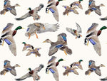 Mallards in flight top knot headband