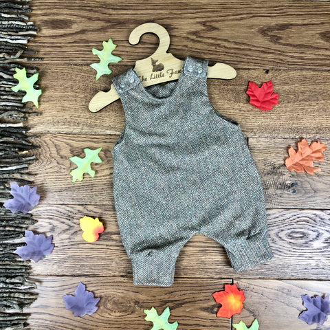 The Little Fawn Tweed Effect Romper 0-4 years