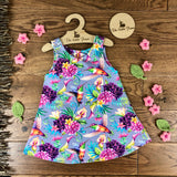 The Little Fawn Hummingbirds A-Line Dress 0-4 years