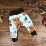 The Little Fawn Highland Cow Leggings