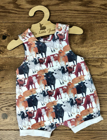 The Little Fawn Till the cows come home Romper with rolled cuffs 0-4 years