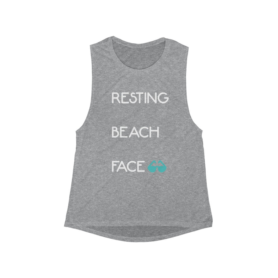Resting Beach Face Tank (Grey)