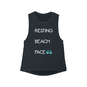 Resting Beach Face Tank (Navy)