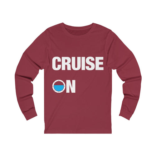 Cruise On Long Sleeve Shirt Mens (Red)