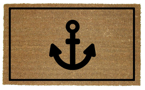Coir Door Mat with Anchor Design