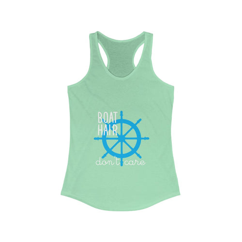 Boat Hair Don't Care - Women's Funny Cruise Shirt (Racerback Tank Top)