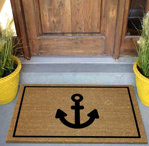 Anchor Door Mat on Doorstep