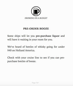 Cruise Hacks Ebook Cheap Alcohol Tip