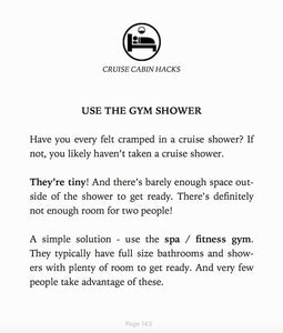 Cruise Hacks Ebook Shower Tip