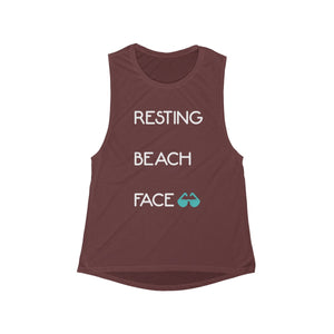 Resting Beach Face Tank (Brown)