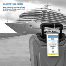 Load image into Gallery viewer, cruise luggage tags norwegian 2021