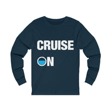 Load image into Gallery viewer, Cruise On Long Sleeve Shirt Mens (Navy)