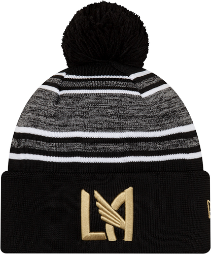 Los Angeles FC Men's New Era Onfield Knit Beanie 2020 Gray