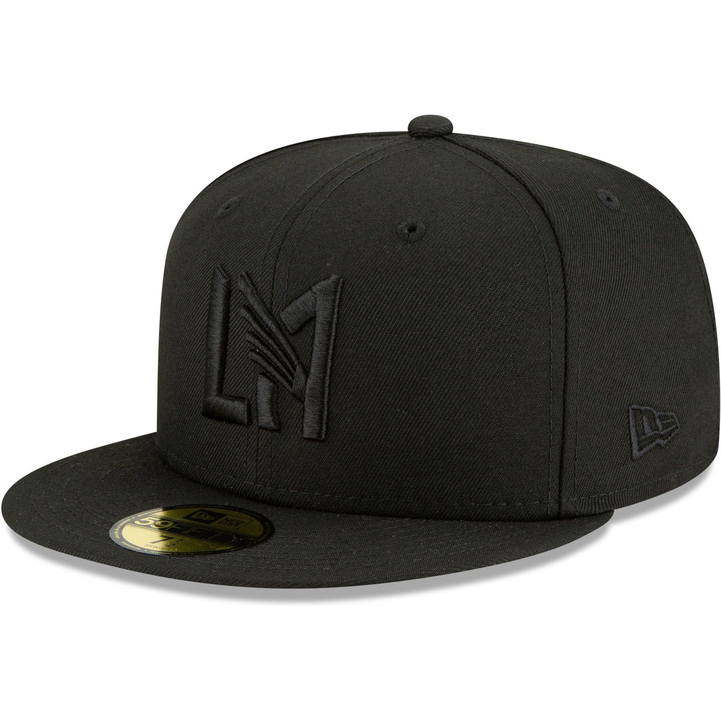 LAFC New Era Blackout Icon Logo 59FIFTY Fitted Hat - Black/Black