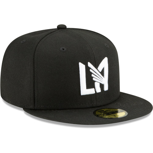 LAFC New Era Monochrome Icon 59FIFTY Fitted Hat - Black/White