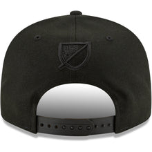 Load image into Gallery viewer, LAFC New Era Blackout Icon Logo 9FIFTY Snapback Hat - Black/Black