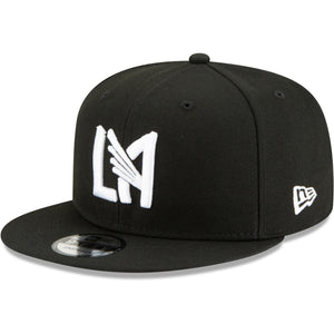 LAFC Men's Monochrome Icon Snap-Black-Adjustable Hat