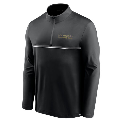 LAFC Mens Line Up 1/4 Zip Top - Black