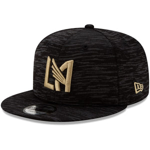 Men's LAFC New Era Black On-Field Collection 9FIFTY Snapback Adjustable Hat
