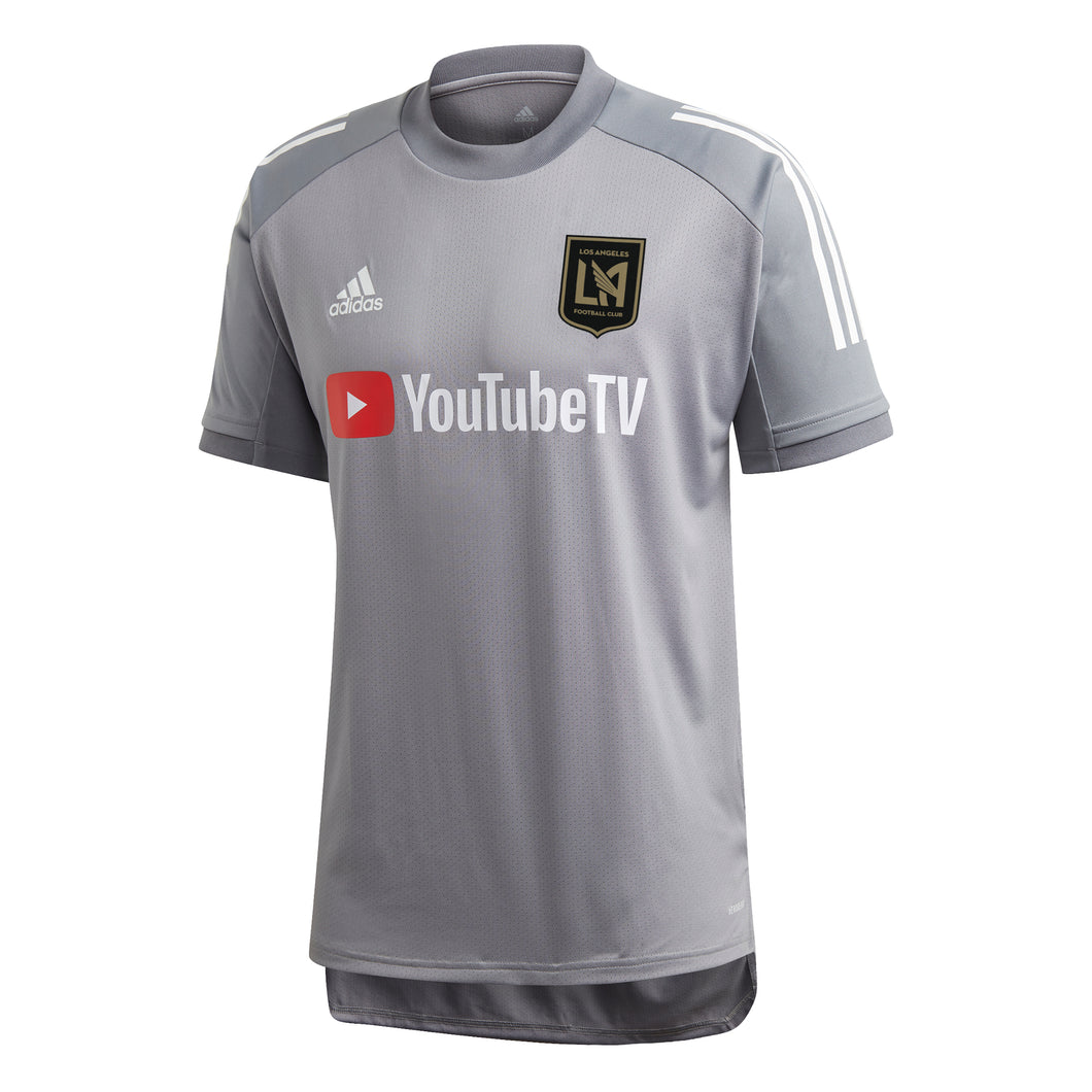 Men's LAFC adidas Gray 2020 On-Field Training Jersey