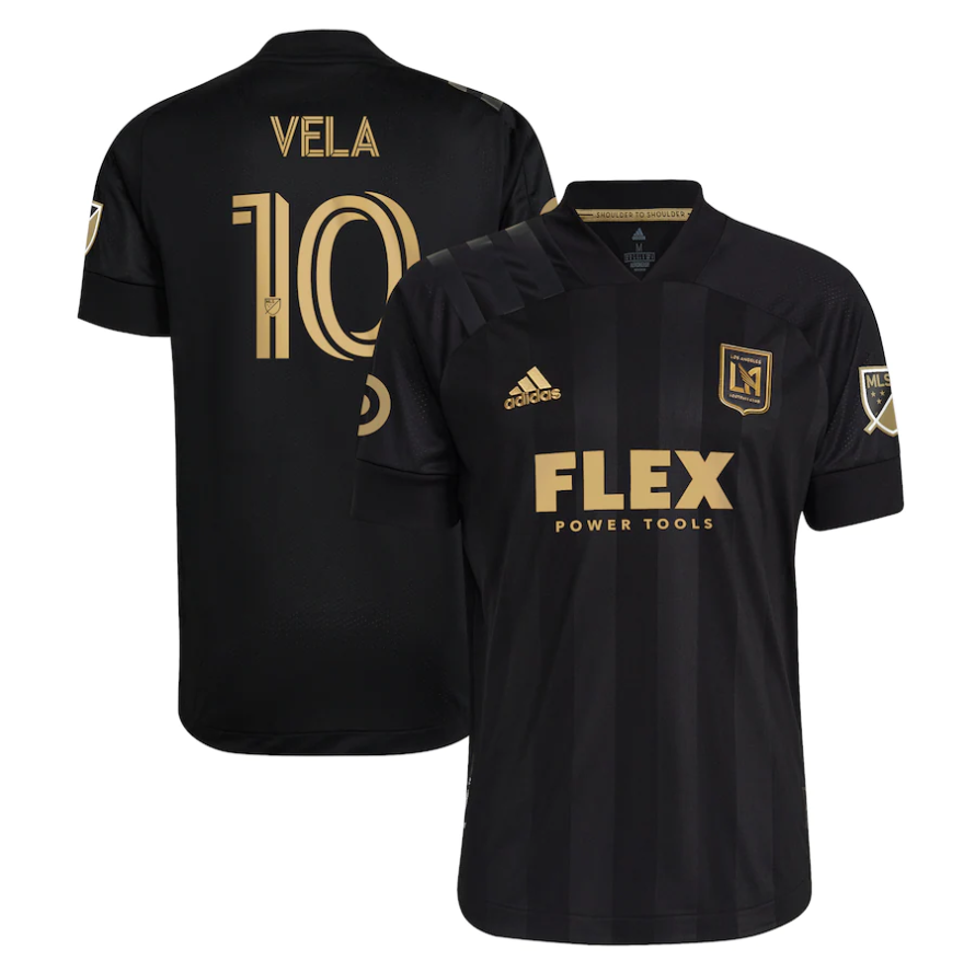 2021 LAFC MENS FINISHED CLUB KIT  BLACK - AUTHENTIC VELA
