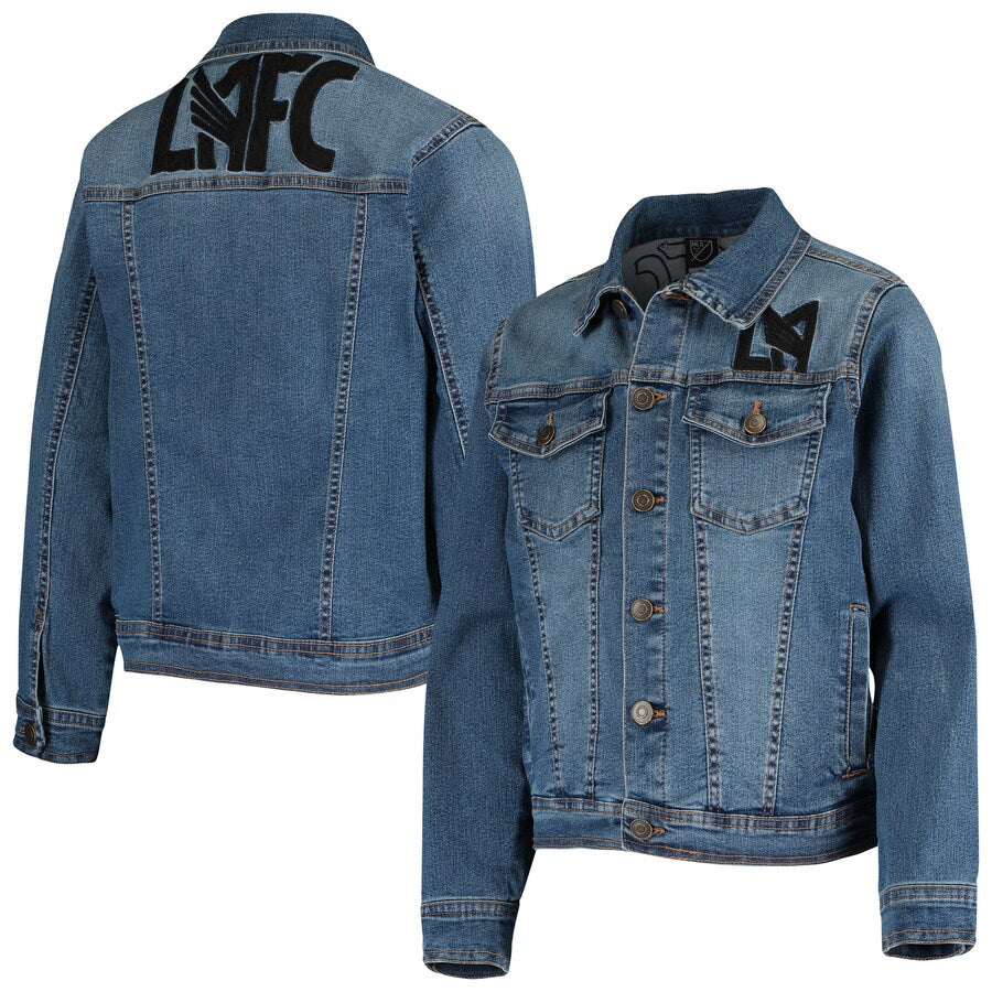 LAFC Girls Youth Throwback Full-Button Denim Jacket - Blue