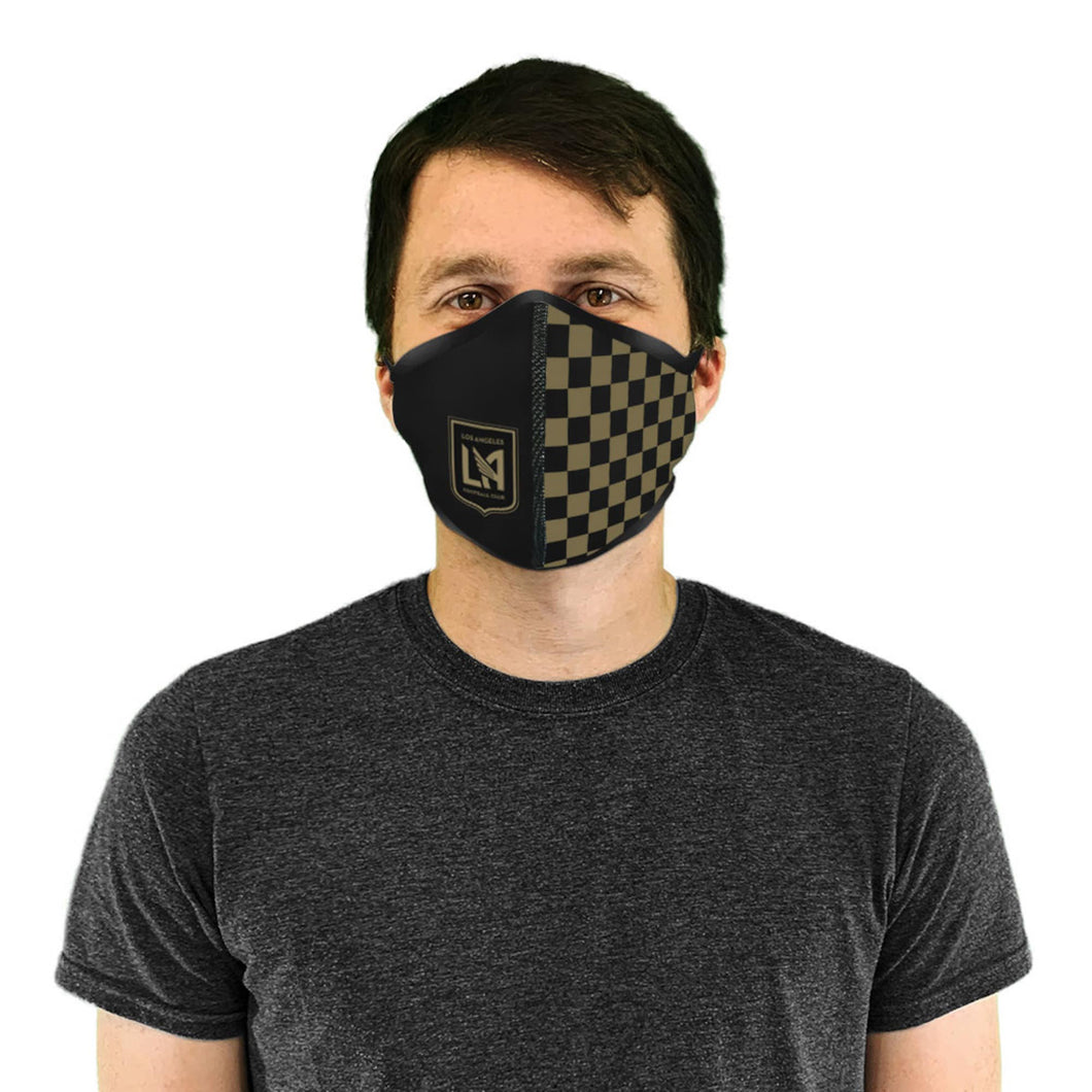 Adult LAFC Checkered Wrap Face Covering