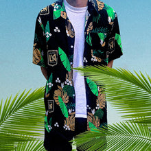 Load image into Gallery viewer, LAFC Men's Crest Hawaiian Button Up Shirt