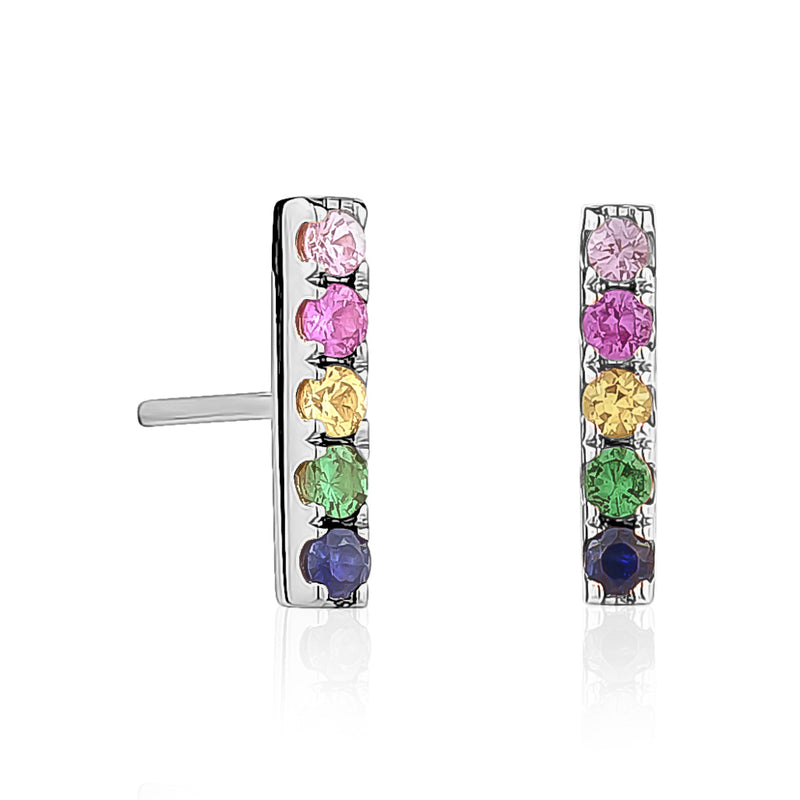 Rainbow Bar Earrings
