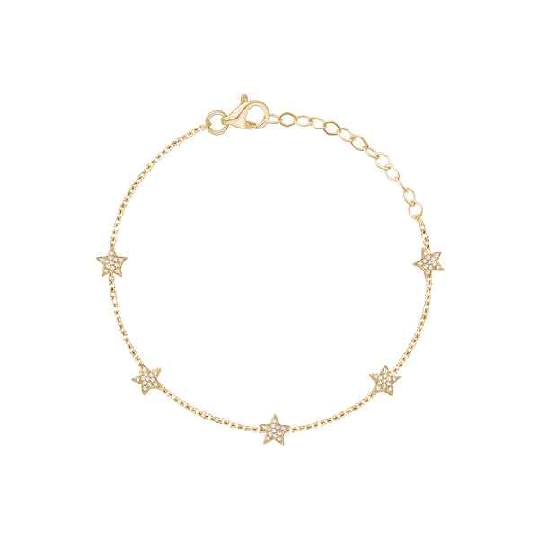 Diamond Stars by the Yard Bracelet