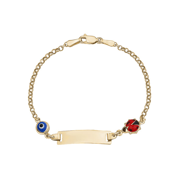 Baby ID Bracelet with charms