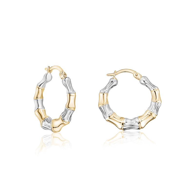 Two-Tone Hammered Hoops