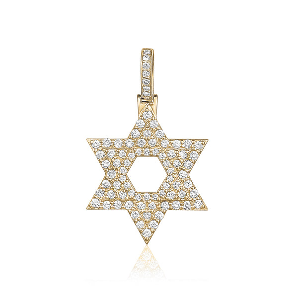 Star of David Charm Pendant
