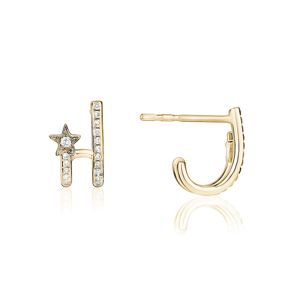 Diamond Star Lobe Earring