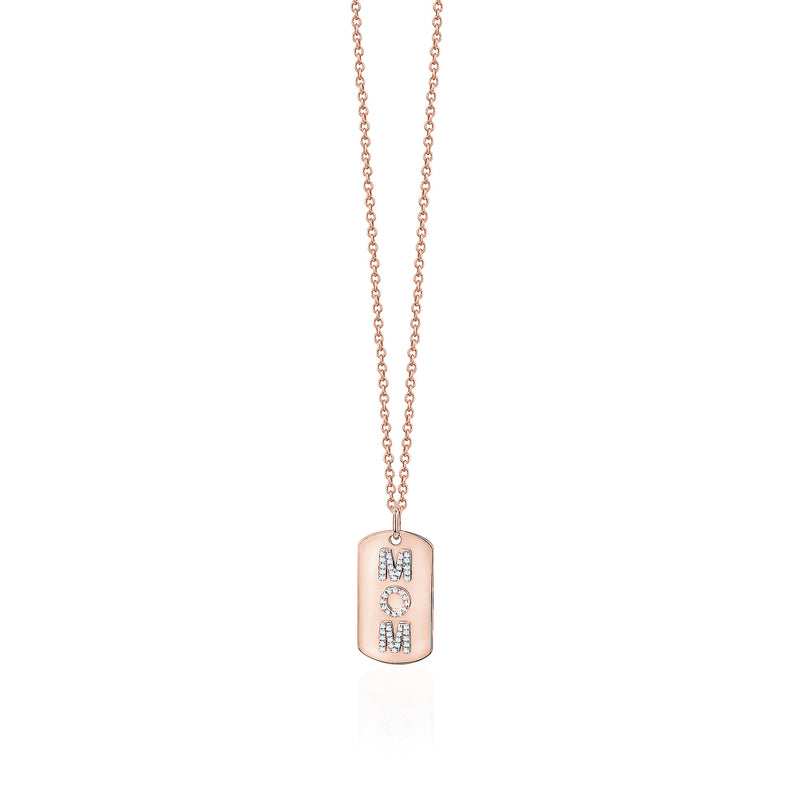 Dog Tag Mom Necklace