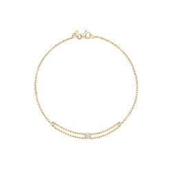 Diamond Single Baguette Bracelet