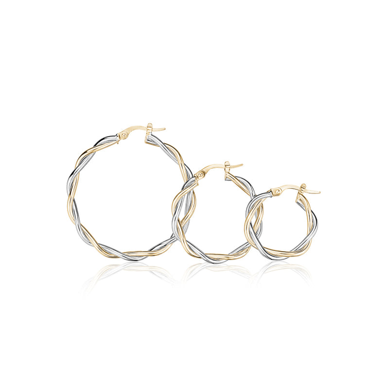 Twisted Two-Tone Hoops