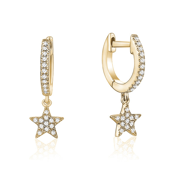 Diamond Huggie Star Earring