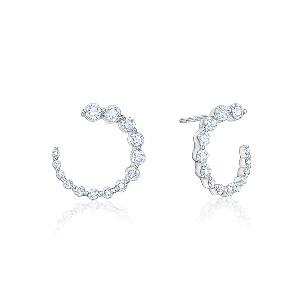 Diamond Graduated Earrings