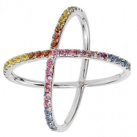 Criss Cross Rainbow Ring