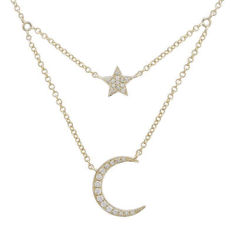 Diamond Double Layered StarLit Necklace