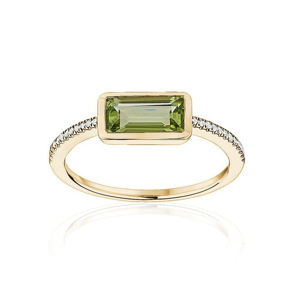Diamond Gemstone Baguette Ring