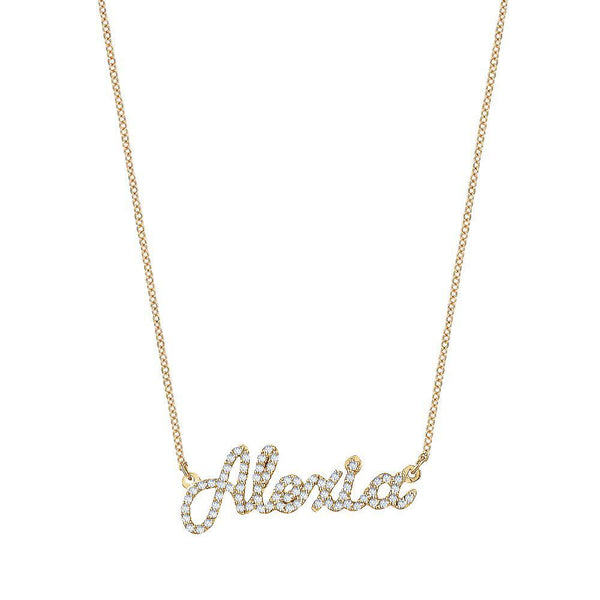 Custom Pavé Name Necklace