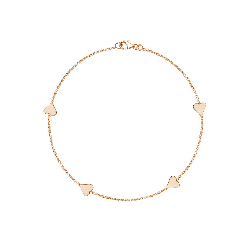 Heart By the Yard Anklet