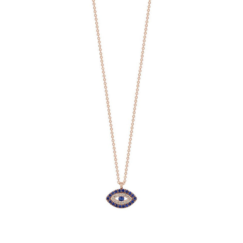 Diamond Evil Eye Necklace