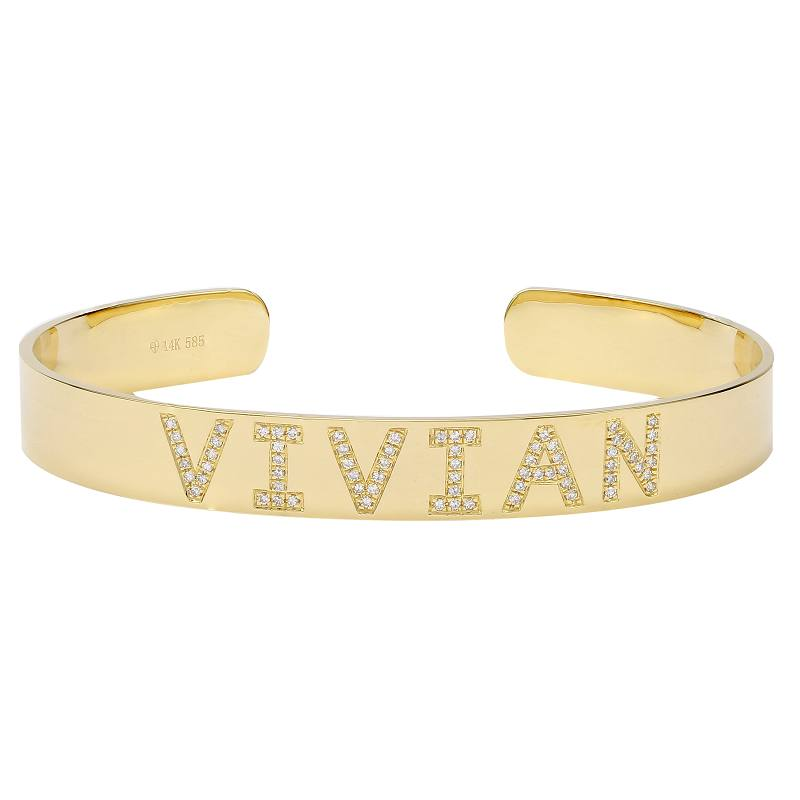 Personalized Diamond Bangle