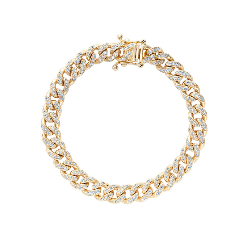 Miami Cuban Link Bracelet with Diamonds