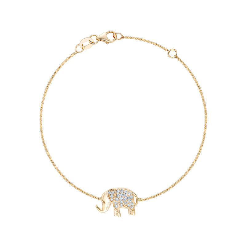 Elephant Diamond Bracelet