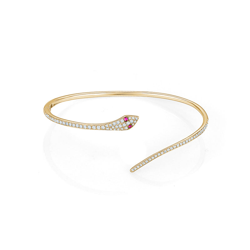 Diamond Snake Bangle