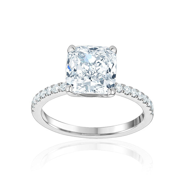 Four Prong Cushion Cut Engagement Ring